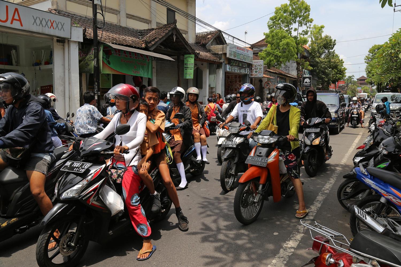 ubudtraffic Downtown Traffic,  Ubud, Bali, Indonesia, 2016