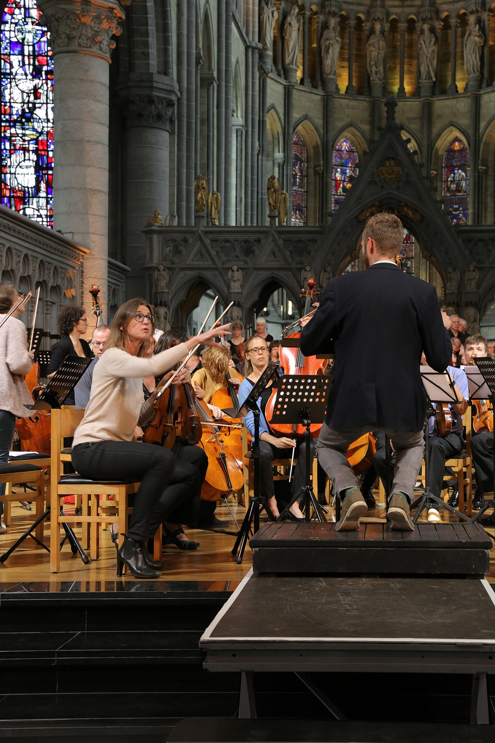 e16-ypresericviolin First Violinist, Eric Choate, Conductor,  St. Martin's Cathedral,  Ypres, Belgium, 2016