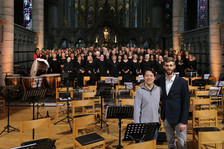 e16-ypresmingericchorus Ming Luke, Eric Choate, conductors,  BCCO Chorus,  St. Martin's Cathedral,  Ypres,  Belgium, 2016