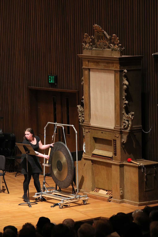 f16-gong Gong-ist,  Hertz Hall,  Berkeley, California, 2016