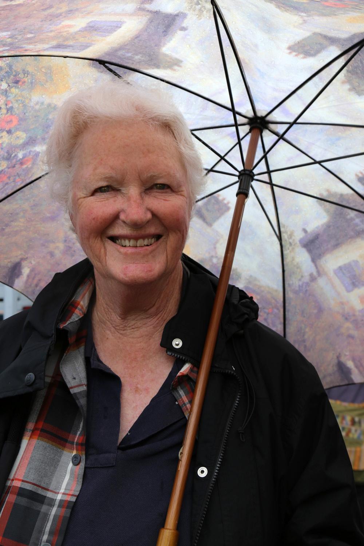 lindaumbrella Linda Morris,  Farmers Market,  Berklely, California, 2016