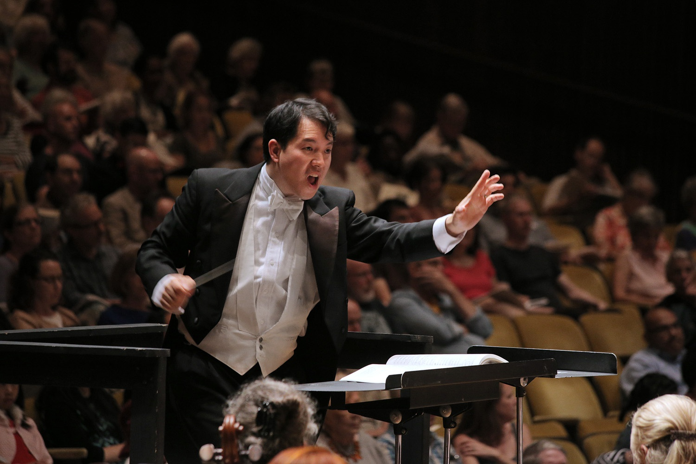 s16-mingperformanceB Ming Luke, Conductor,  BCCO Spring Concert,  Hertz Hall,  Berkeley, California, 2016
