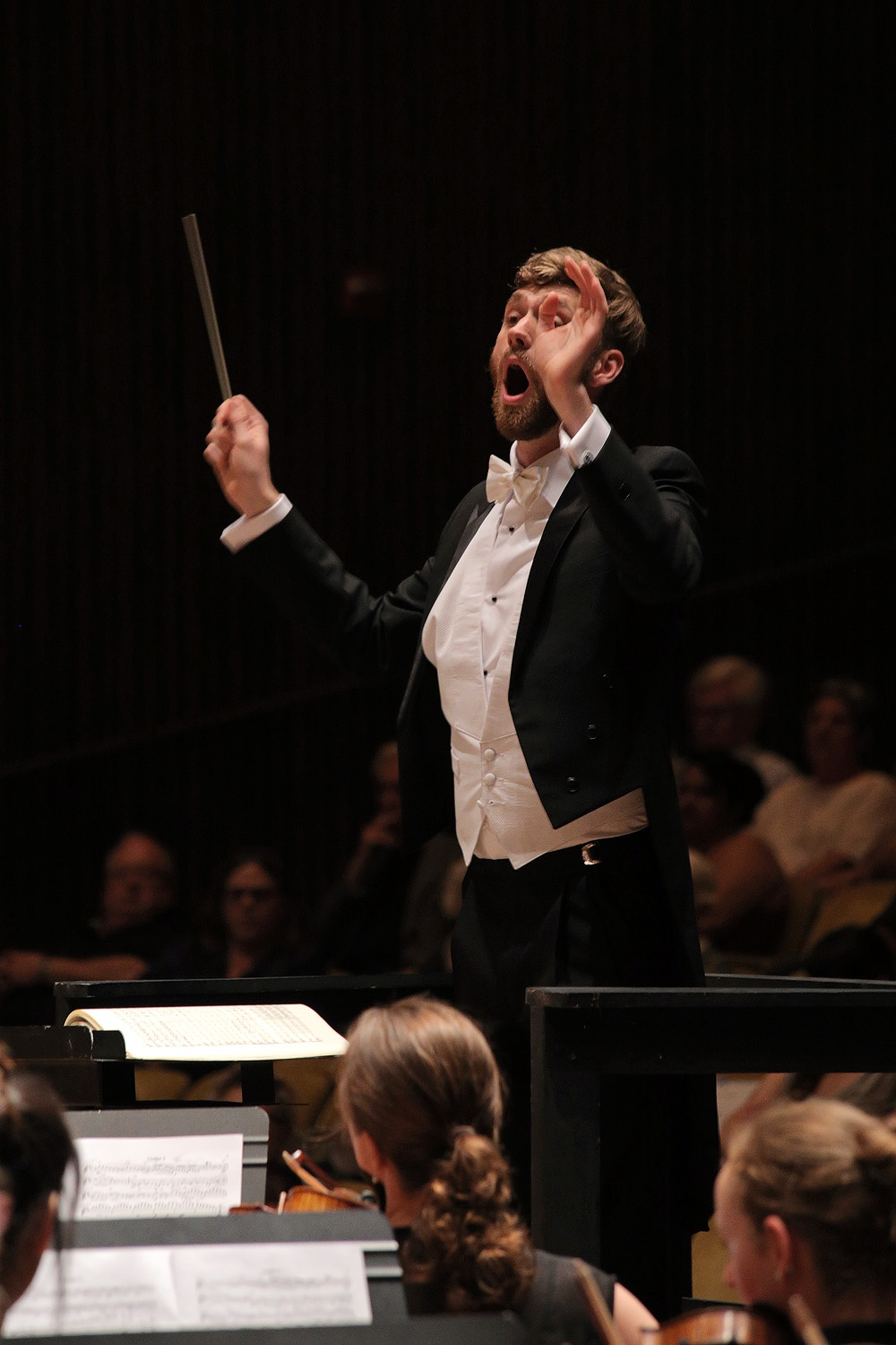 s17-ericB Eric Choate,  Assistant Conductor,  BCCO Spring Concert,  Hertz Hall,  Berkeley, California, 2017