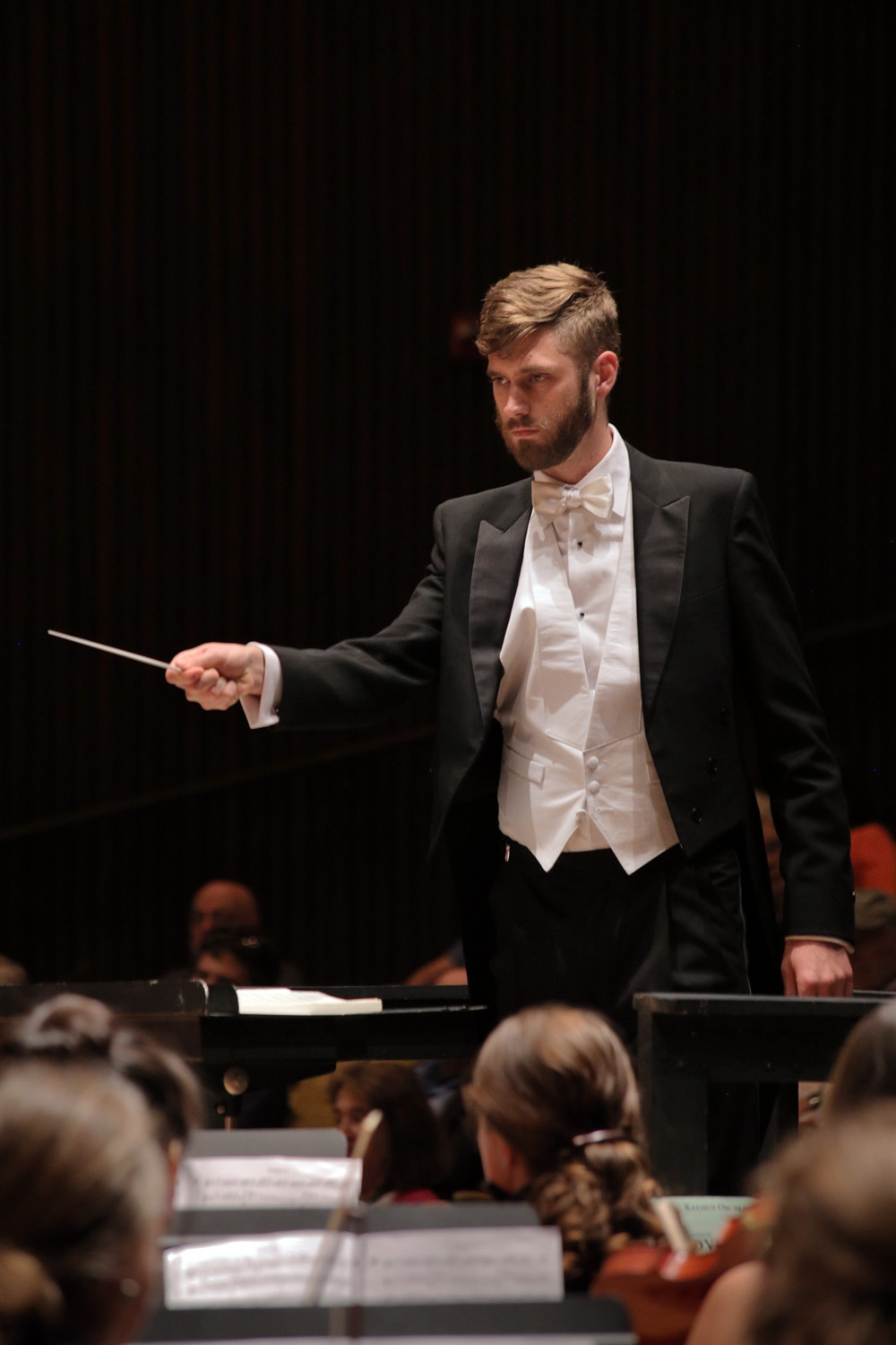 s17-ericC Eric Choate, assistant conductor,  BCCO Spring Concert,  Hertz Hall,  Berkeley,  California, 2017