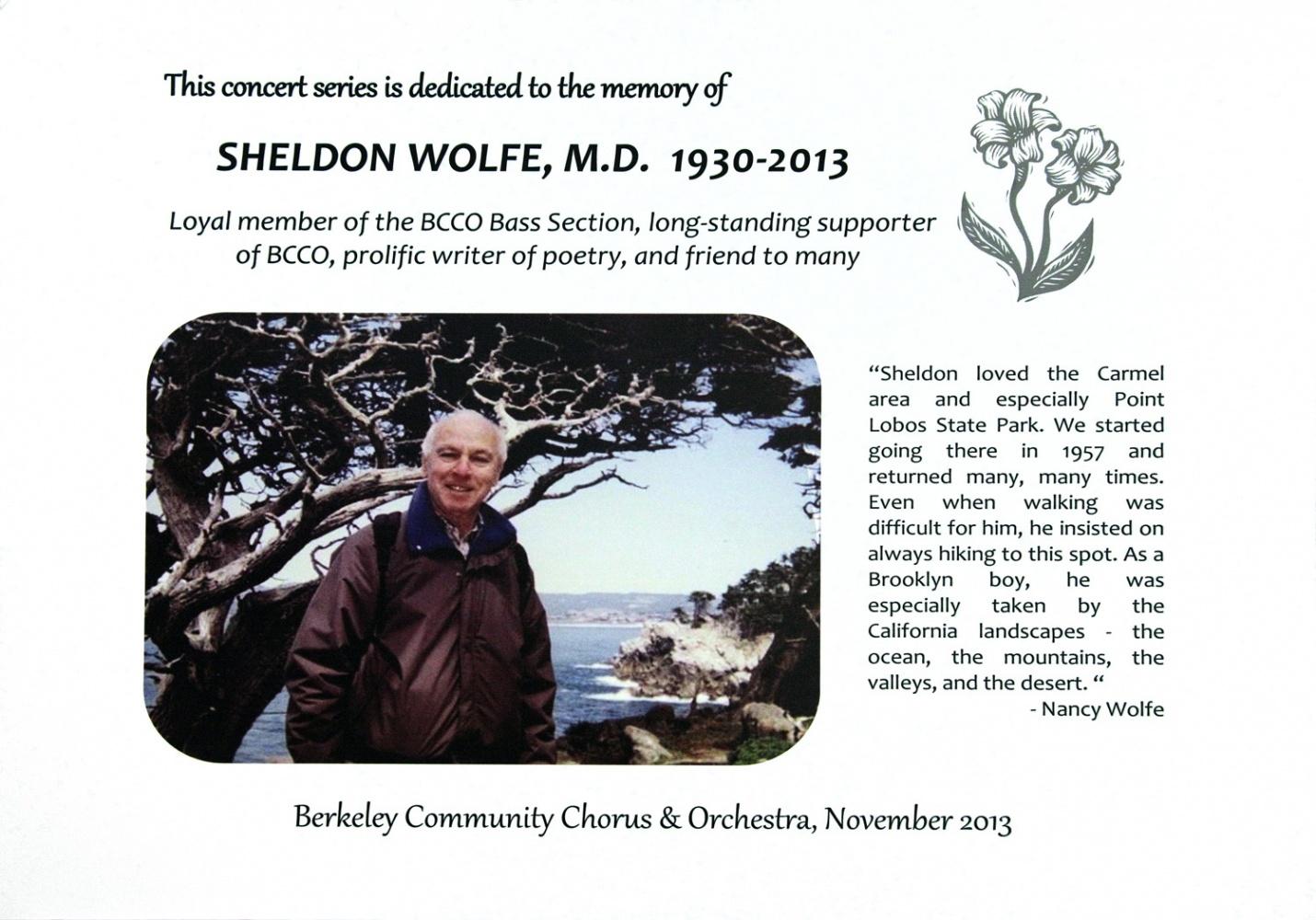 wolfe BCCO Tribute,  Berkeley, California, 2013