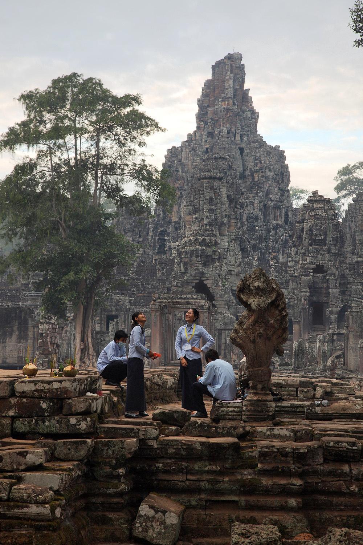 bayoneastentry Bayon, East Entry, Angkor, Cambodia, 2010