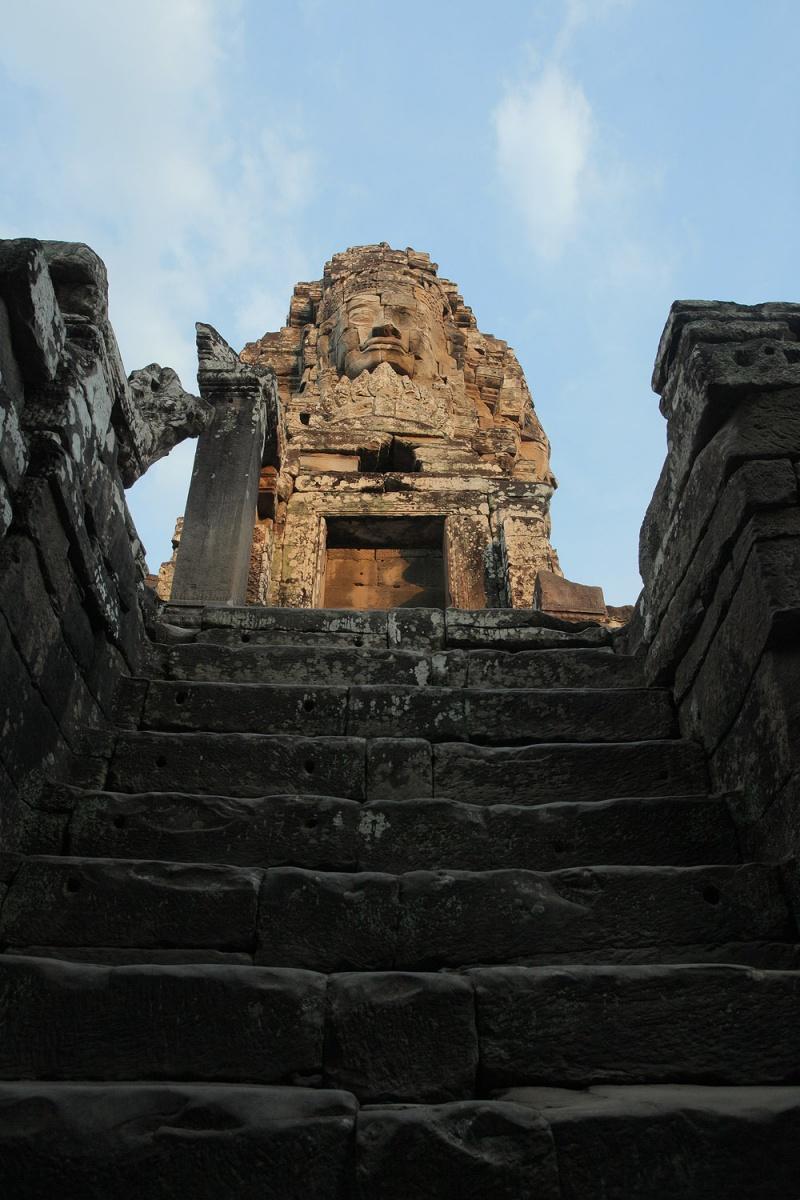 bayonstair Staircase, Bayon, Angkor, Cambodia, 2010