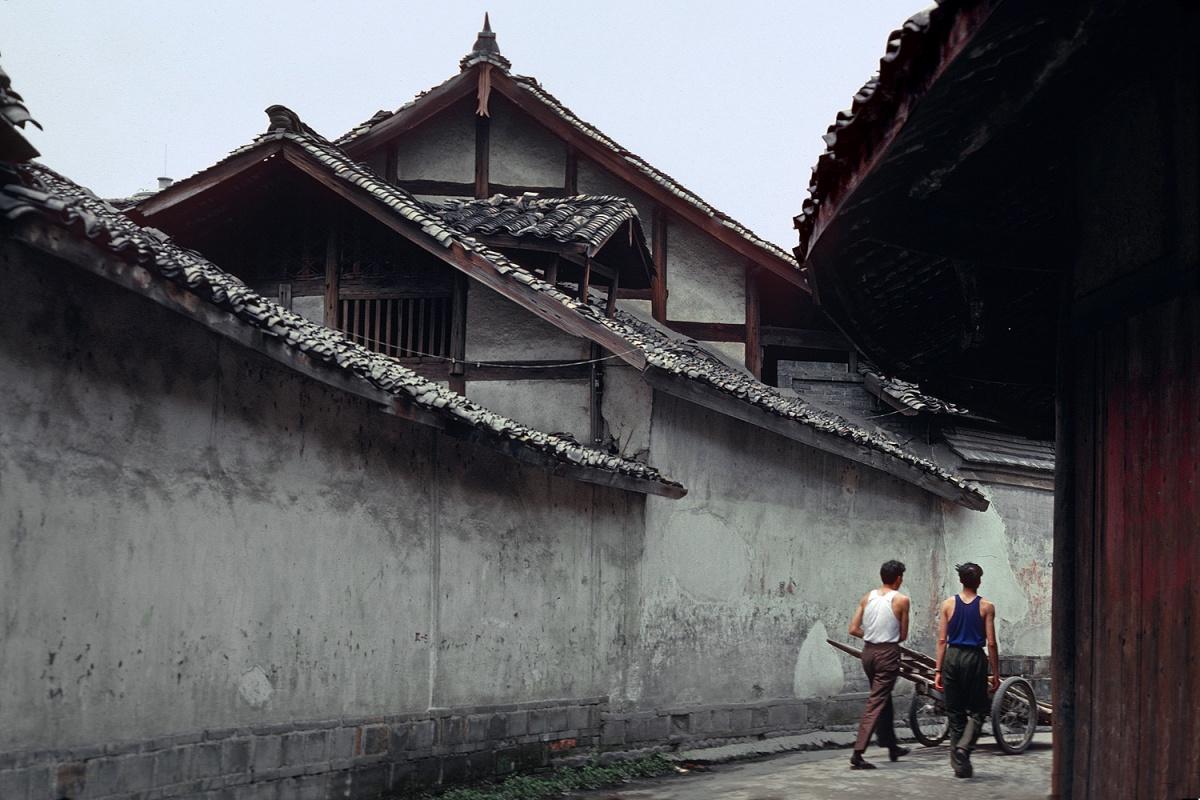 alleypeaks Alleyway,  Chengdu, Sichuan, China, 1981