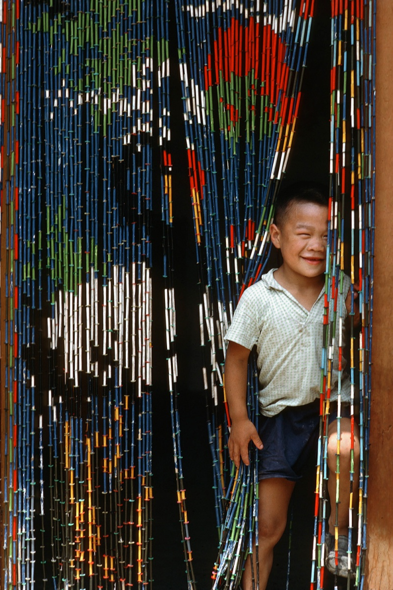 curtain Beaded Curtain, Beijing, China, 1981