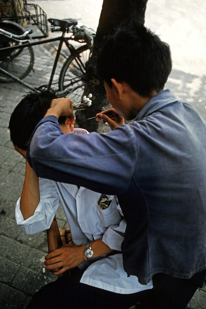 earjob Ear Cleaning, Xian, China, 1981