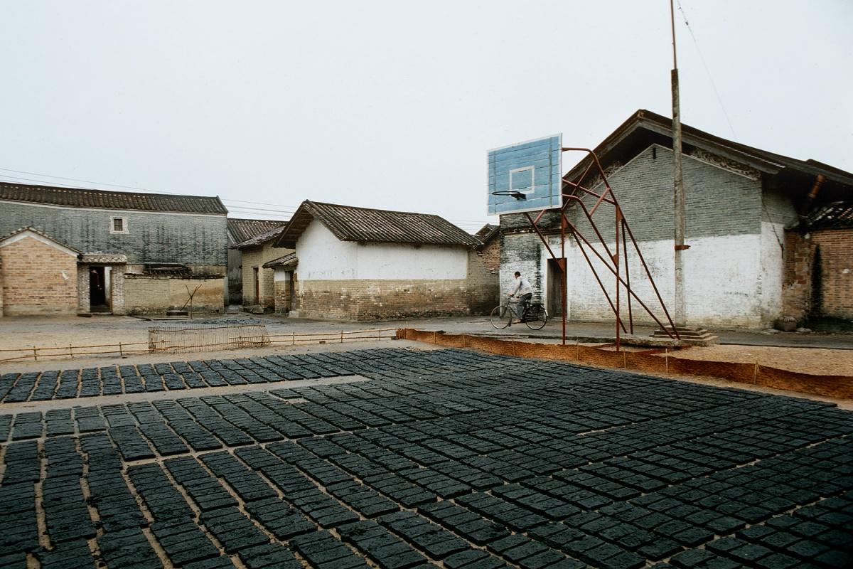 greybricks Drying Bricks, Fushan, China, 1979