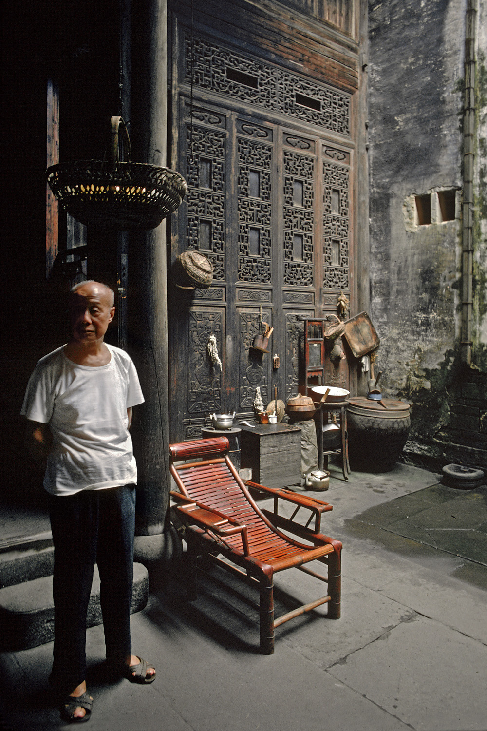 oldscreen Courtyard, Living Room, Anhui, China, 1981