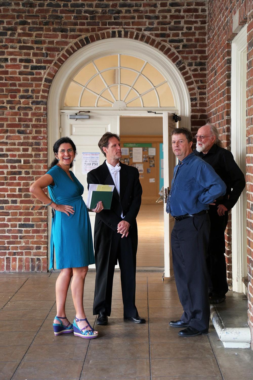 quartetB Nalini Guhman, Paul Flight, Mark Lemaire, Deward Hastings,  1st Congregational Church,  Berkeley, California, 2015