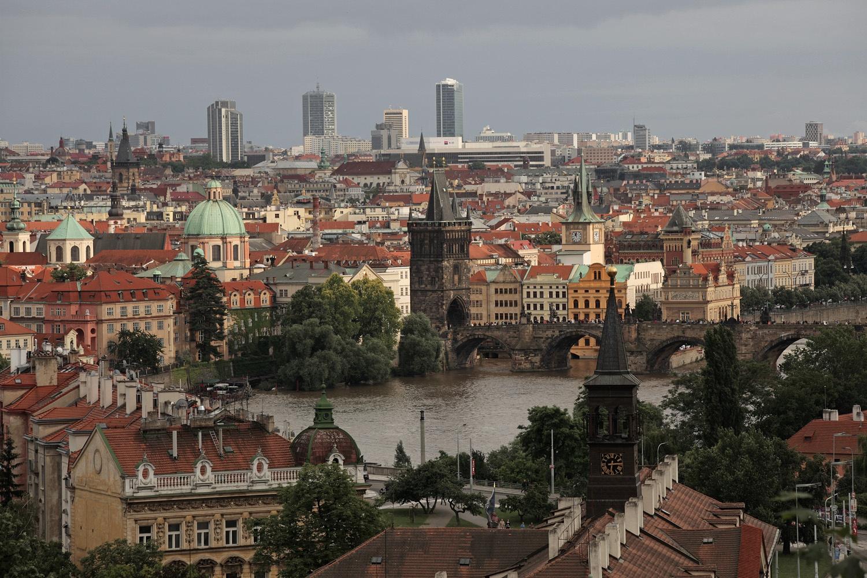 skyline Prague, Czech Republic, 2013