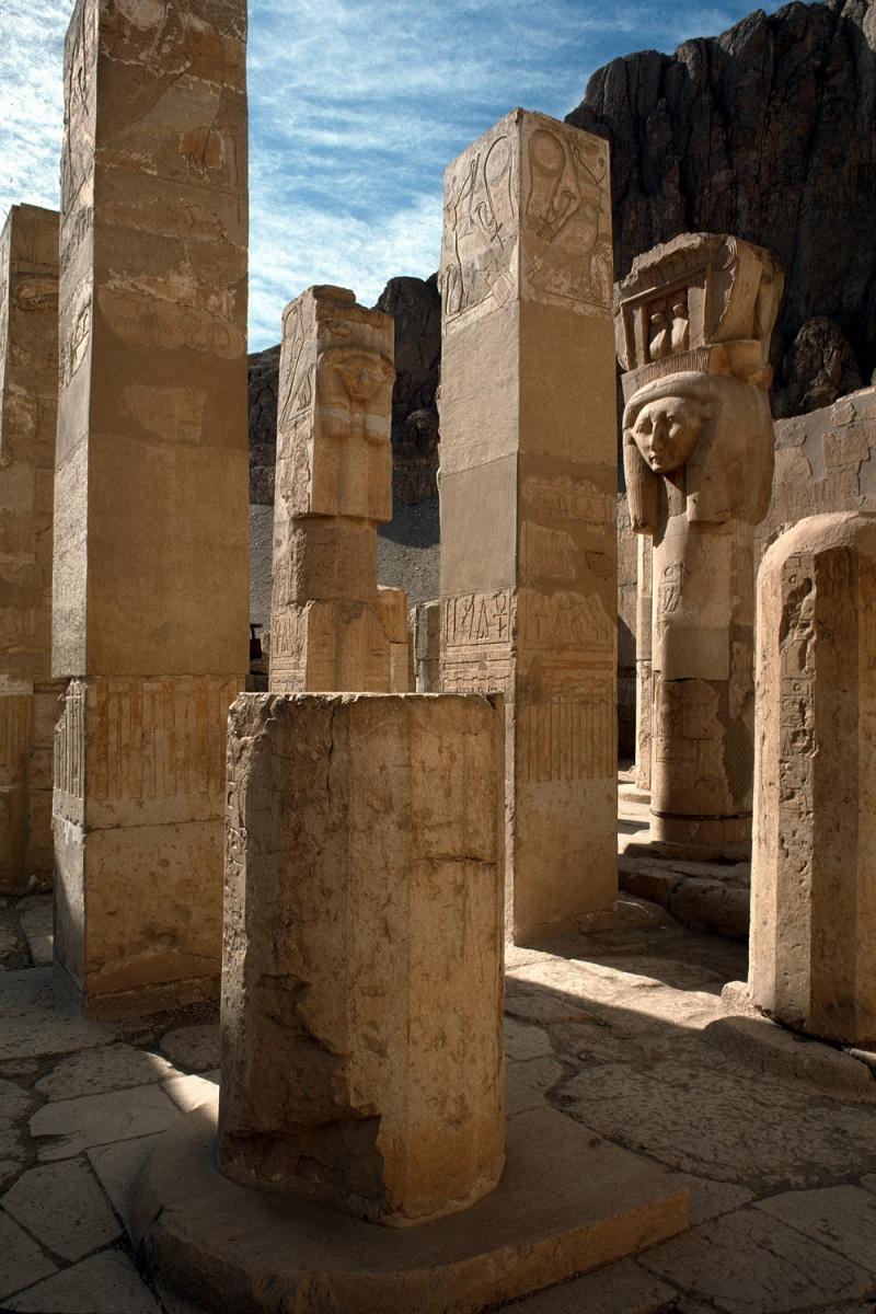 pillars Pillars, Hatshepsut Temple,  Der-el-Bahari, Egypt, 1998