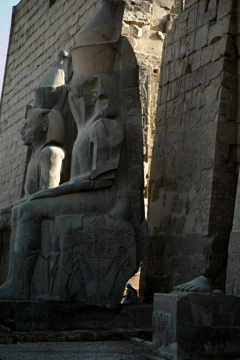 statues Pylon, Temple of Luxor, Luxor, Egypt, 1998