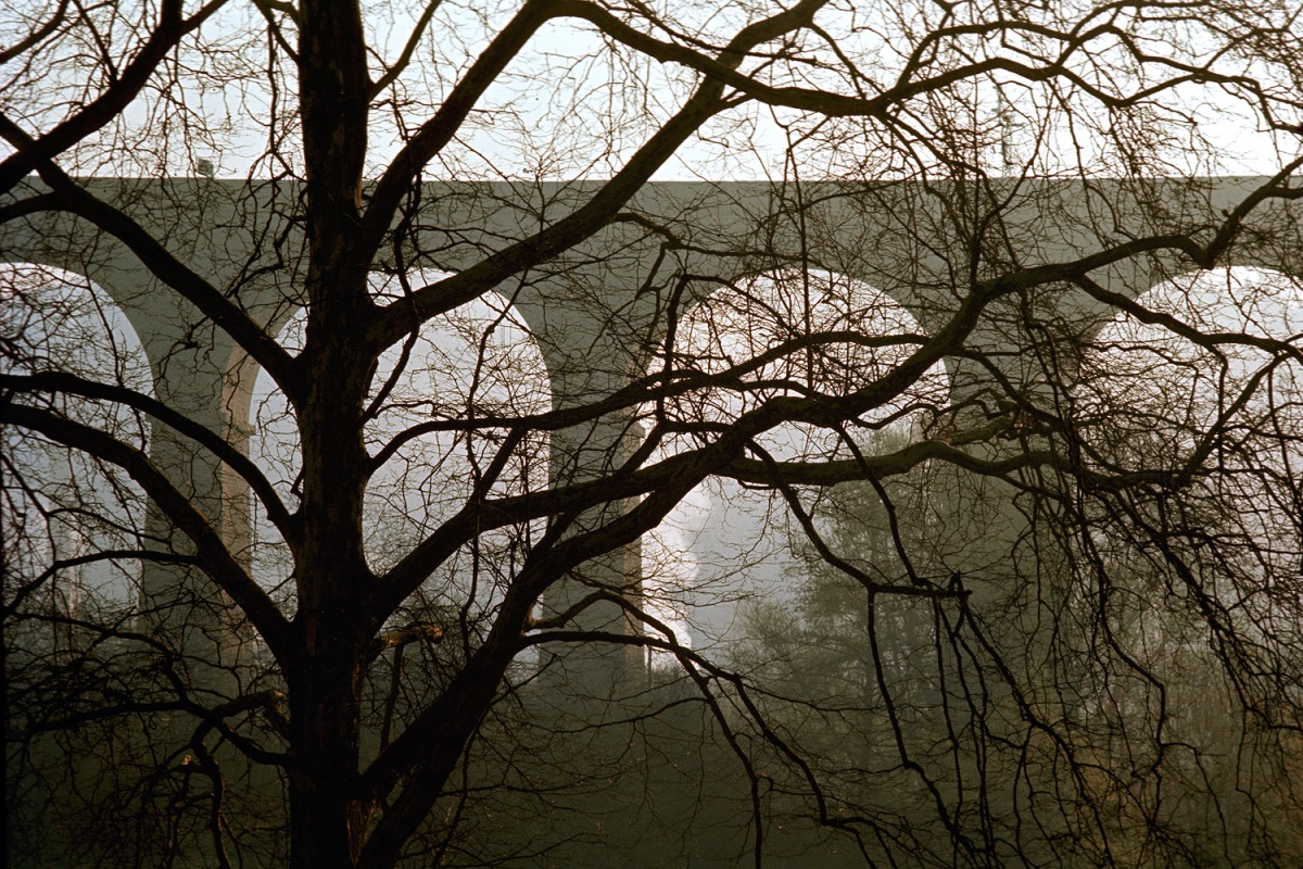 bridge Passerelle Viaduct, Luxemburg City, 1972