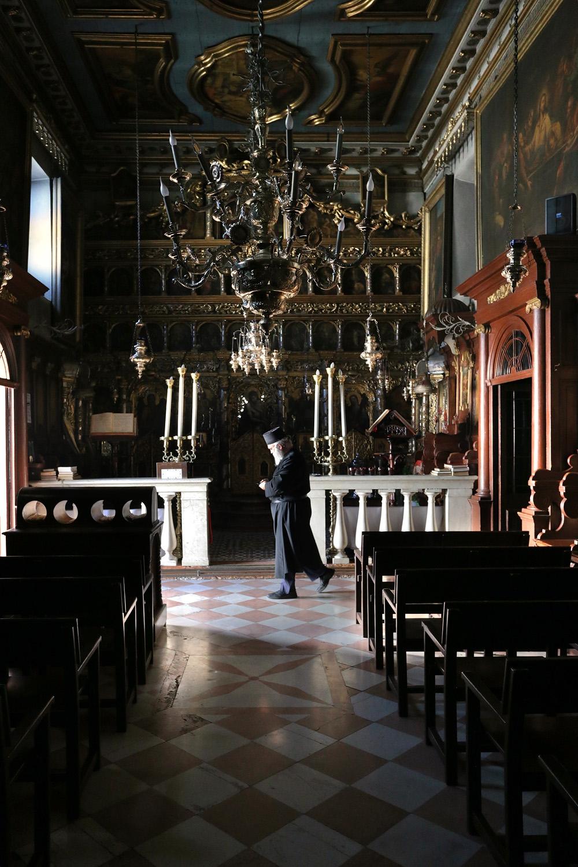 17-priestchurch Monastery Moni Platiteras,  Kerkyra, Corfu, Greece, 2017