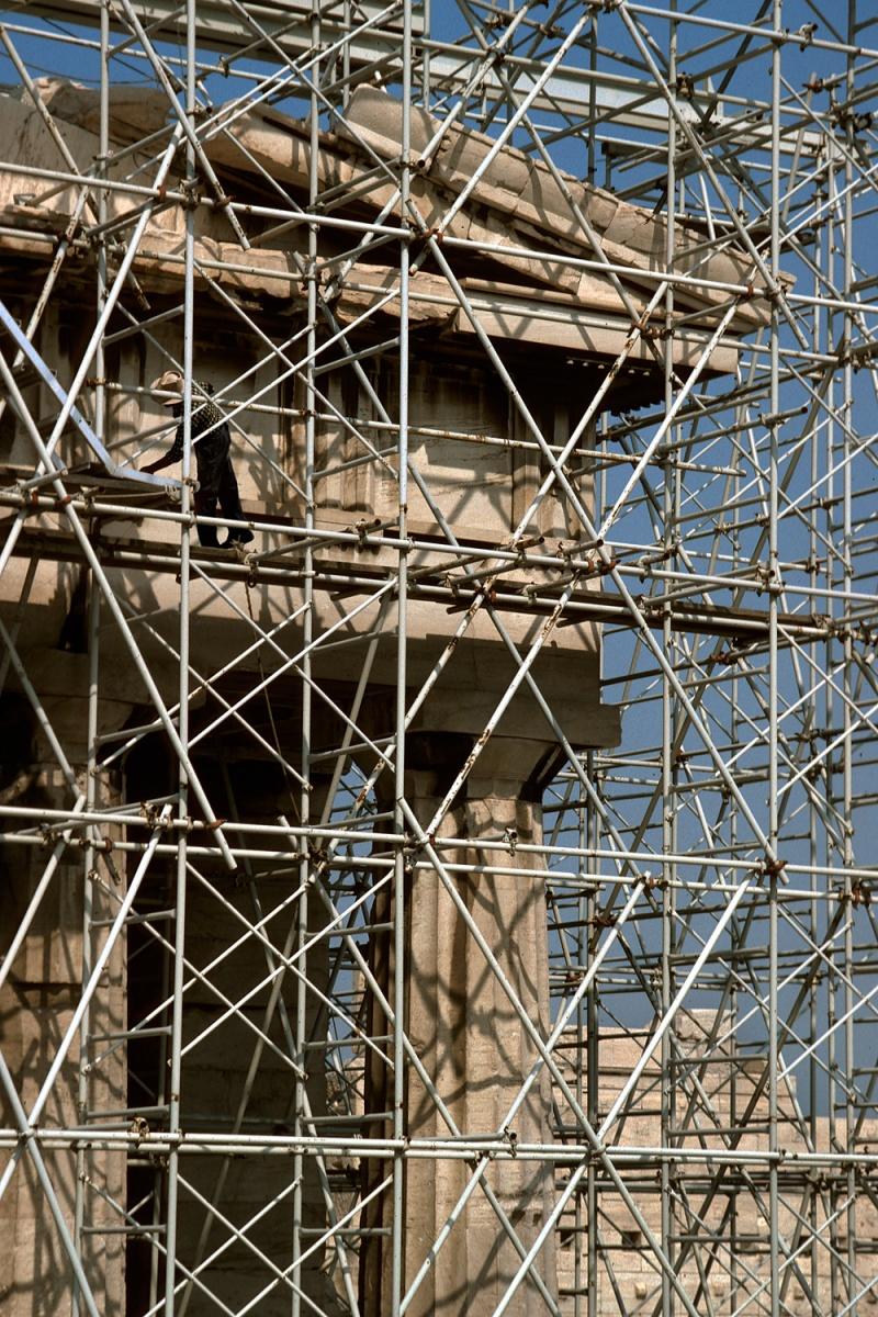 scaffold Reconstruction, Athens Acropolis, Greece, 1992