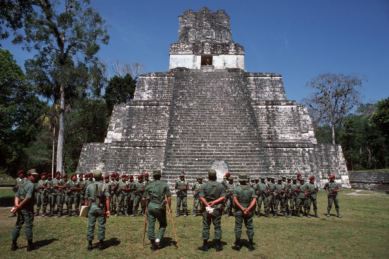 tikalarmy Park Rangers,  Tikal, Guatemala, 1978