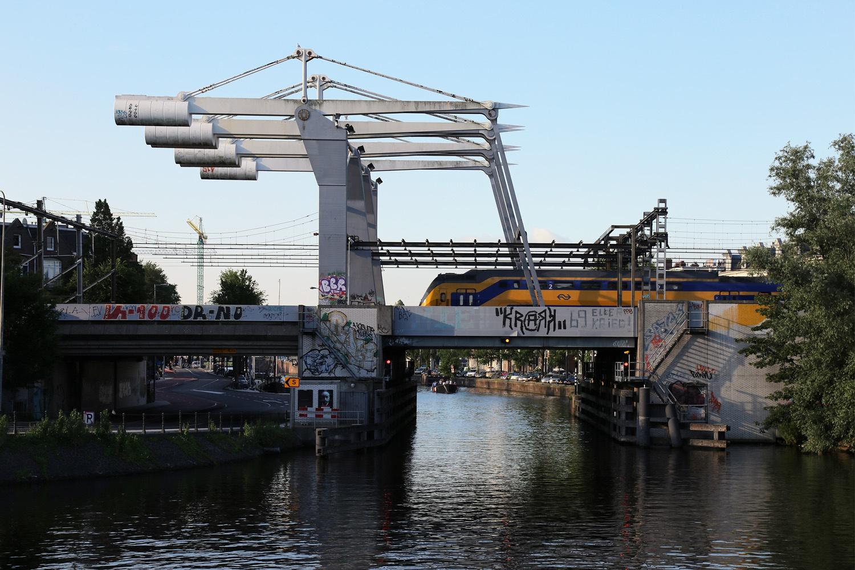 amst-trainbridge Train Bridge,  Amsterdam, Holland, 2016