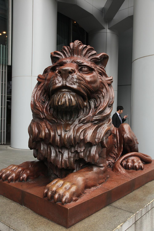 hsbclion Hong Kong and Shanghai Bank,  Central, Hong Kong, 2014