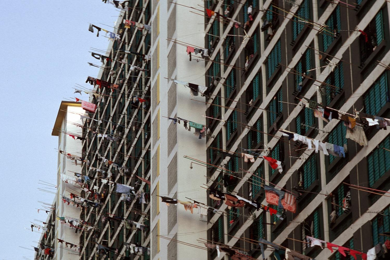 laundrypoles Kowloon, Hong Kong, 1979