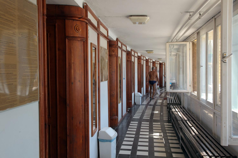 changingrooms Szechenyi Baths,  Budapest, Hungary, 2013