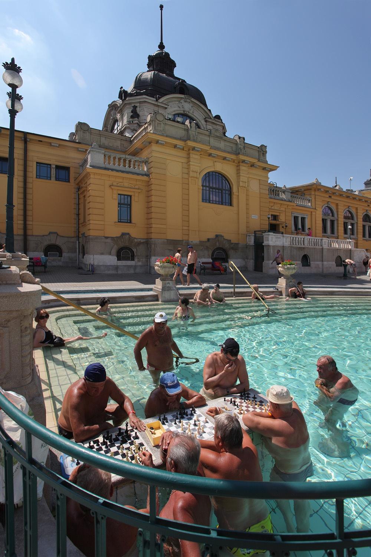 chessplayersB Széchenyi Baths,  Budapest, Hungary, 2013