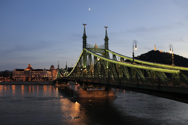 libertybridgeC Liberty Bridge, Gellert Hotel,  Budapest, Hungary, 2013