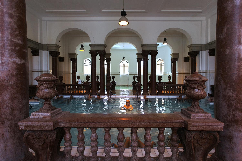 ornatepool Széchenyi Baths,  Budapest, Hungary, 2013