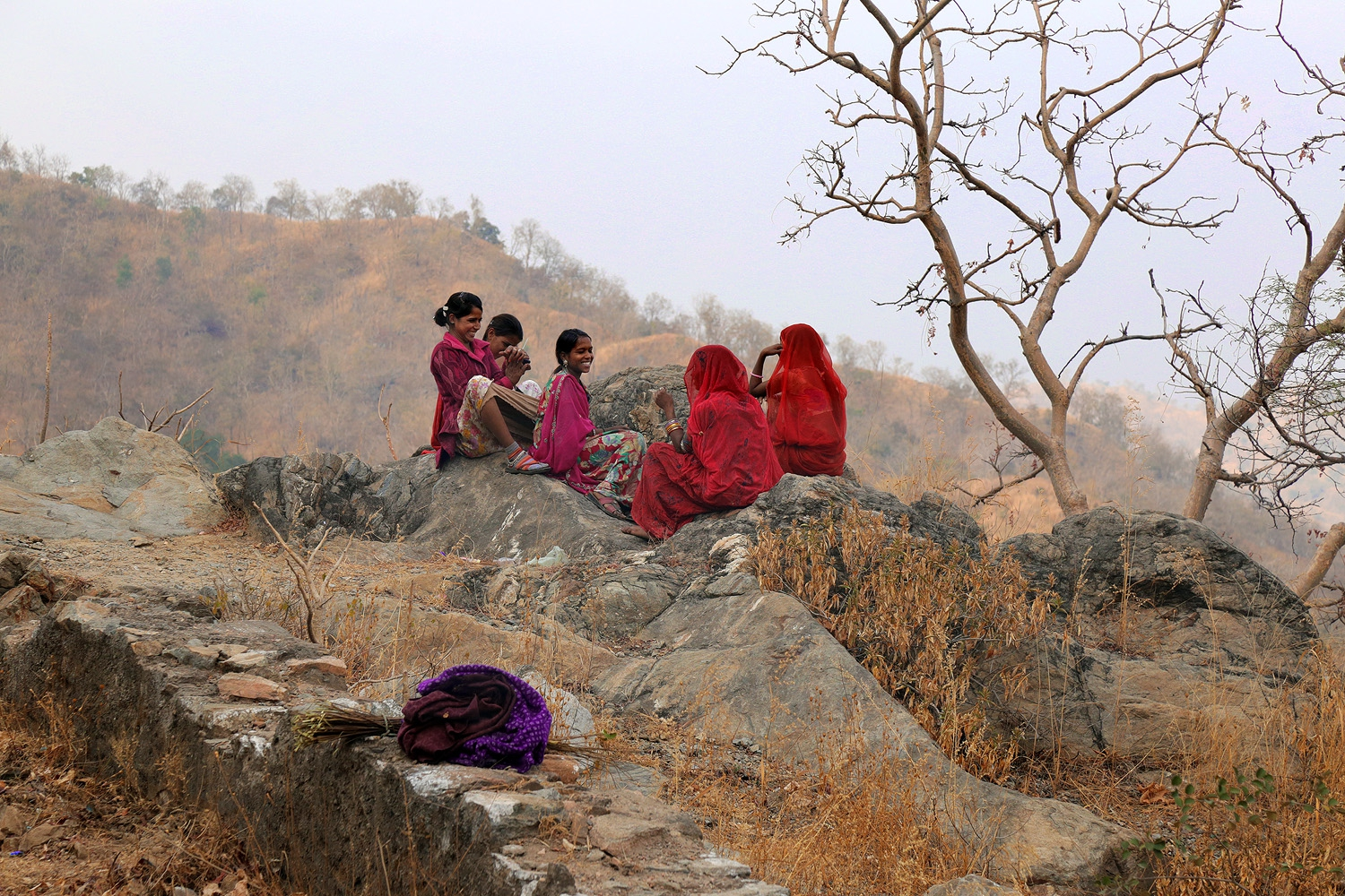 18-hillwomen Between Ranakpur and Udaipur, 
