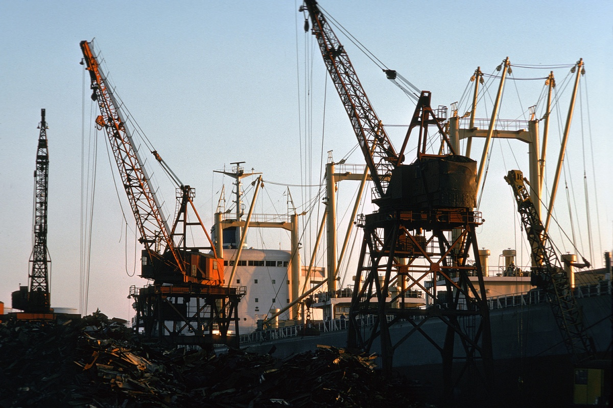 cranes Scrap Iron, Richmond, California, 1975