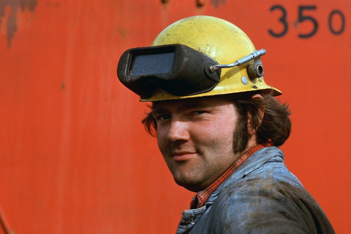 redwelder Shipyard Welder, San Francisco, California, 1975
