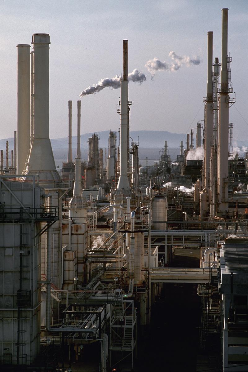 smokestacks Refinery, Rodeo, California, 2001