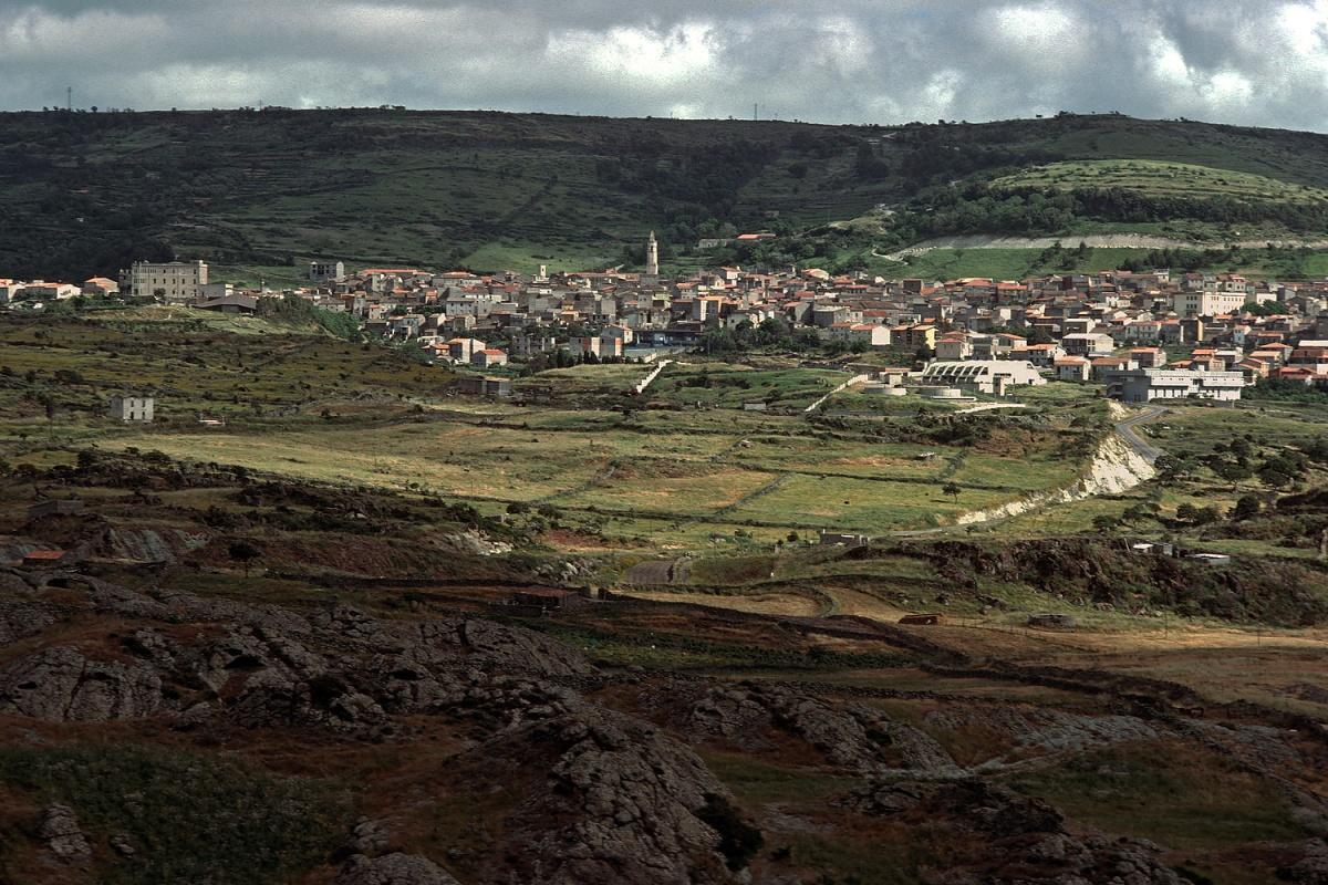 bonorvascape Hilltown,  Bonorva, Sardinia, 1984