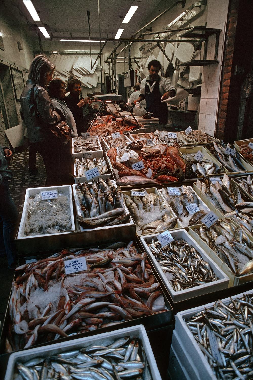 fishmonger Fishmonger,  Chioggia, Italy, 1985