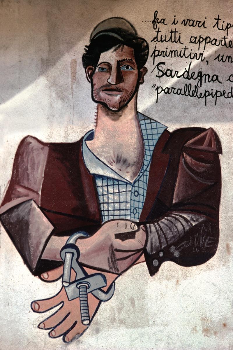 handcuffs Parallelepiped,  Orgosolo, Sardinia, 1984