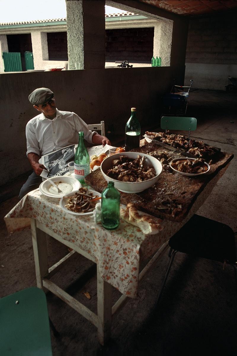 lunch Pane Bollito,  Sardinia, 1984
