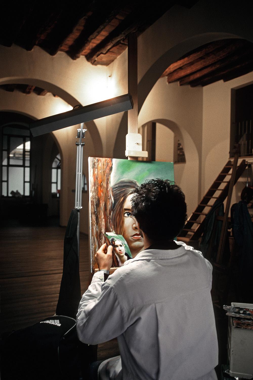 portraitartist Portrait Artist,  Florence, Italy, 2004