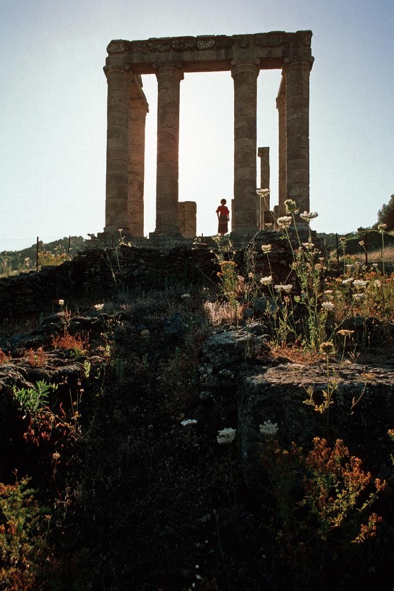 templeshadow Temple of Antas,  Fluminimaggiore, Sardinia, 1984