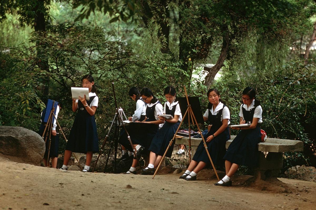 artclass Art Class,,  Tongdo Monastery, Korea, 1977