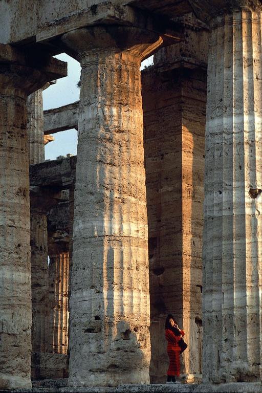 doric In Greek Temple, Paestum, Italy, 1986