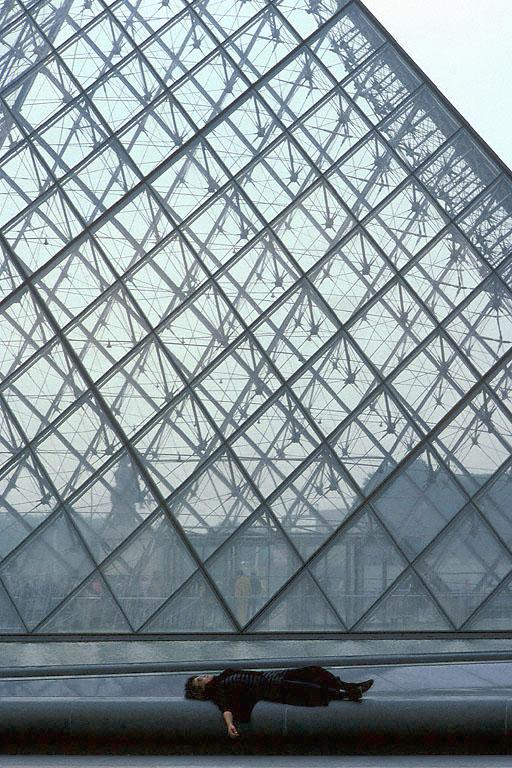 jetlag Jetlagged at the Louvre, Paris, France, 1990