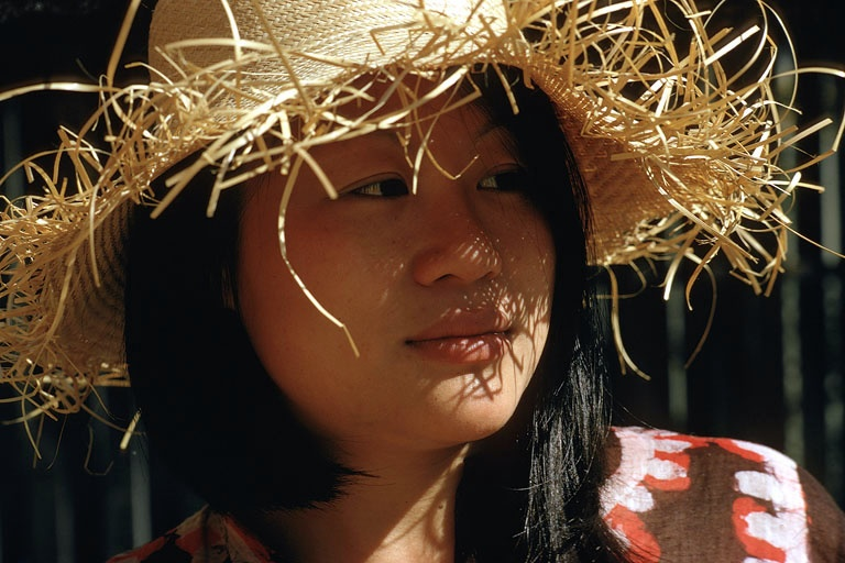 strawhat In Another Straw Hat, Berkeley, California, 1974