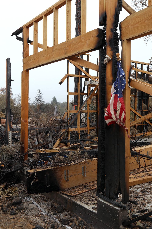 17-fireflagA Soda Canyon Road,  Napa, California, 2017