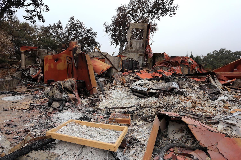 firescape Soda Canyon Road,  Napa, California, 2017