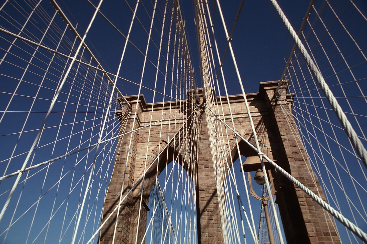 bridge Brooklyn Bridge, New York, New York, 1980