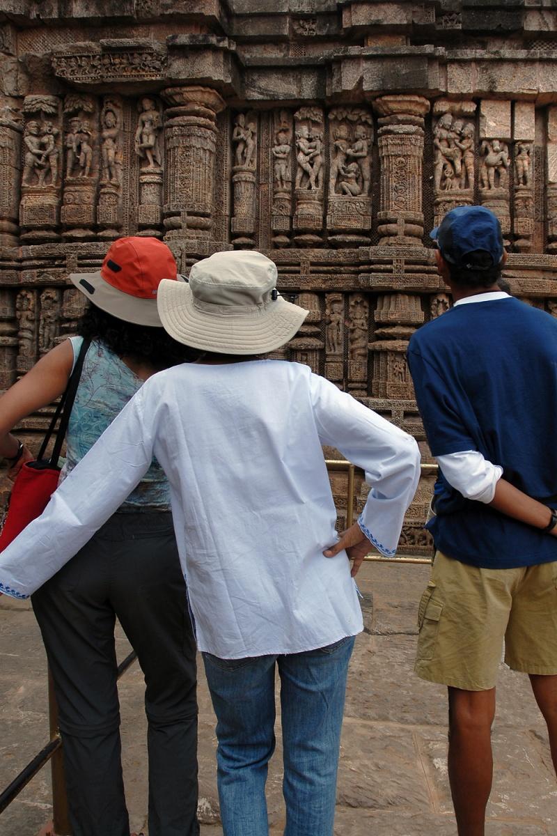 voyeurs Sun Temple Lessons,  Orissa, India, 2007