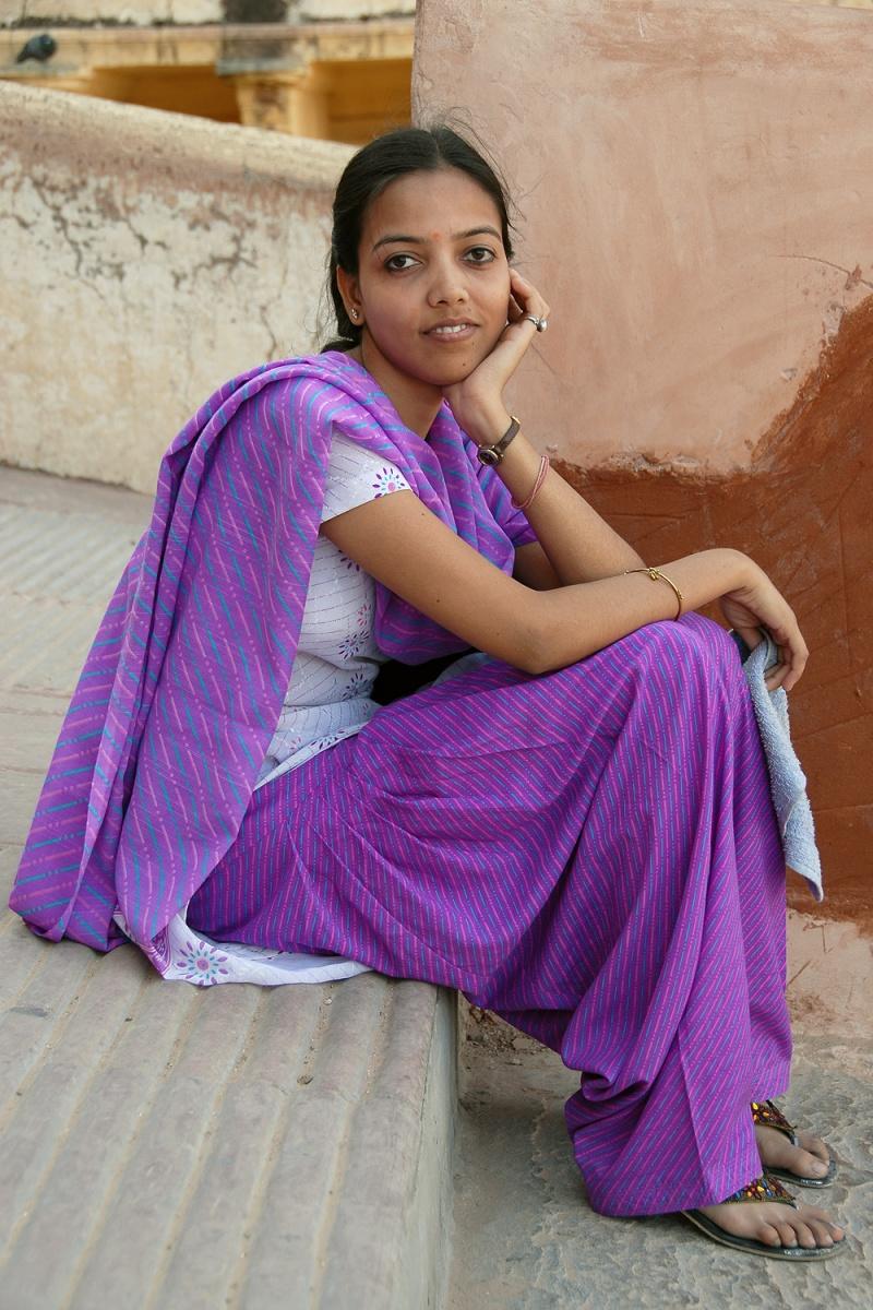 purplemaid Tourist, Amber Fort, Jaipur, India, 2006